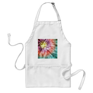 Color Filled Tie Dye Adult Apron