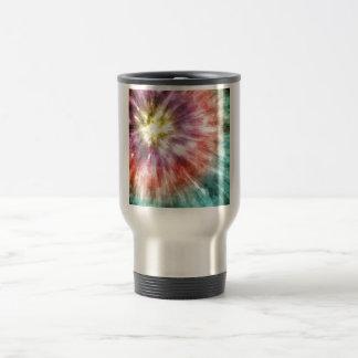Color Filled Tie Dye Travel Mug