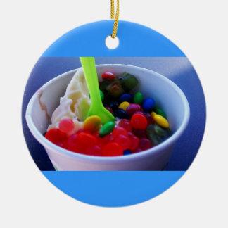 Color Filled Yogurt Ceramic Ornament