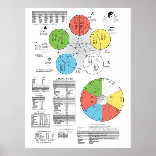 Color Five Element Acupuncture Poster | Zazzle.com