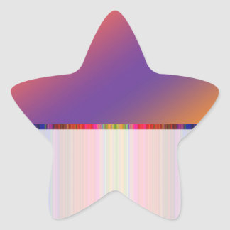 Color Flair: Buy Blank or add Greeting Text  Image Star Sticker