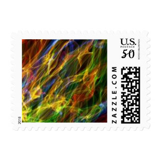 Color flame postage