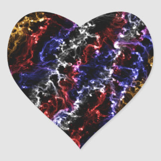 Color Flames Heart Sticker