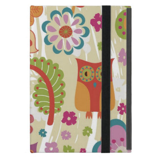 Color Floral and Owl Cover For iPad Mini