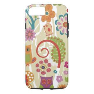 Color Floral and Owl iPhone 7 Case