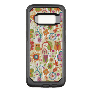 Color Floral and Owl OtterBox Commuter Samsung Galaxy S8 Case