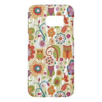 Color Floral and Owl Samsung Galaxy S7 Case