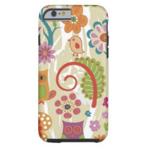 Color Floral and Owl Tough iPhone 6 Case