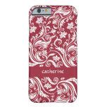 Color floral del personalizado de los remolinos de funda para iPhone 6 barely there