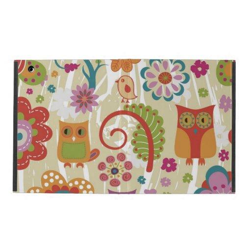 Color floral y búho