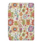 Color floral y búho cubierta de iPad mini