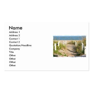 Color Florida Beach Dune Rope Walk Photo Business Card Template