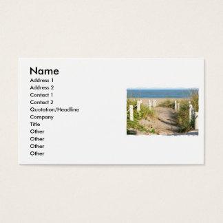 Color Florida Beach Dune Rope Walk Photo Business Card