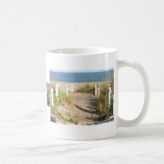 Color Florida Beach Dune Rope Walk Photo Mug