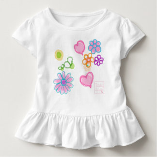 Color flowers Toddler Ruffle Tee by babyLaia