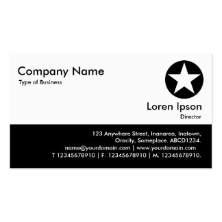 Color Footer - Black - Star Double-Sided Standard Business Cards (Pack Of 100)