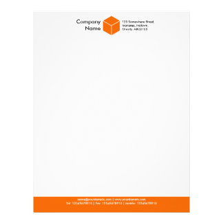 Color Footer (Cube) - Orange Letterhead