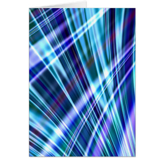 Color & Form Abstract - Blue Light Refraction Card