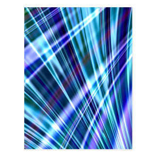 Color & Form Abstract - Blue Light Refraction Postcard