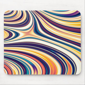 Color & Form Abstract Curved Rounded Lines Flowing Mouse Pad
