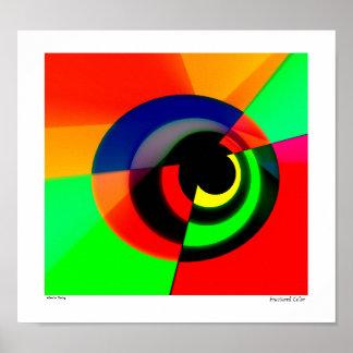 Color fracturado póster