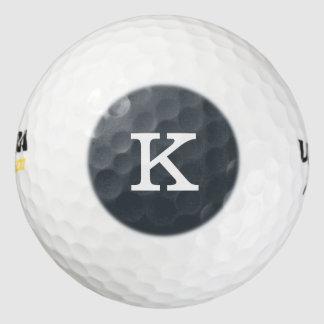 Color fresco de la pizarra del monograma pack de pelotas de golf