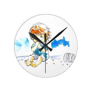 Color fresco del comedor de la galleta reloj de pared