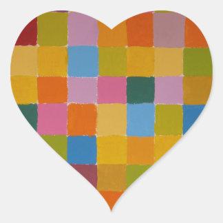 Color Full Image Heart Sticker