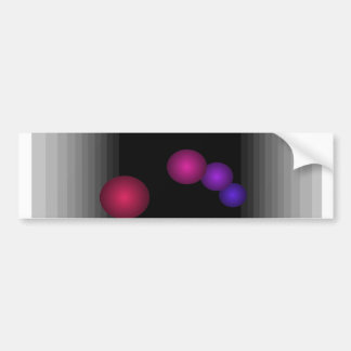 Color Fun 3 D Optical Illusion Infinity Spheres Bumper Sticker