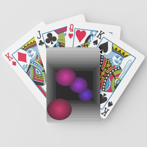 Color Fun 3 D Optical Illusion Infinity Spheres Poker Cards