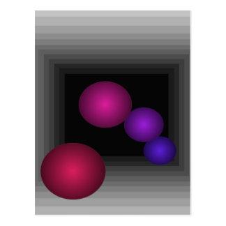 Color Fun 3 D Optical Illusion Infinity Spheres Postcard