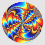 Color Fun - Fractal Classic Round Sticker