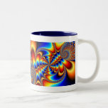 Color Fun - Fractal Two-Tone Coffee Mug