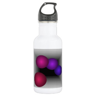 Color Fun Optical Illusion Infinity Spheres Stainless Steel Water Bottle