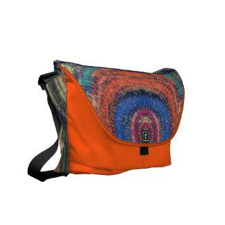 Color furry fuzz messenger bag