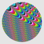 Color Game - Fractal Art Classic Round Sticker