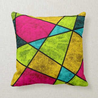 Color glass abstract geometric by EDrawings38 Throw Pillow