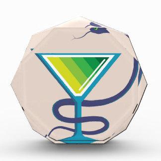 Color Glass with Snake Poison Medicine Acrylic Award