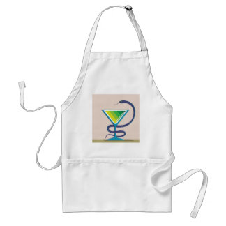 Color Glass with Snake Poison Medicine Adult Apron