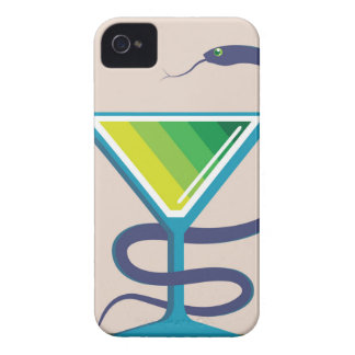 Color Glass with Snake Poison Medicine iPhone 4 Case-Mate Case
