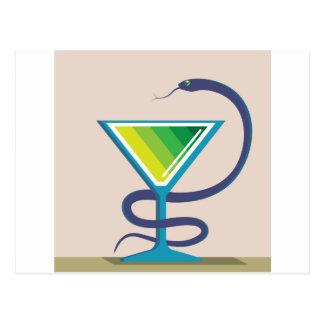 Color Glass with Snake Poison Medicine Postcard