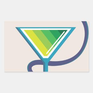 Color Glass with Snake Poison Medicine Rectangular Sticker