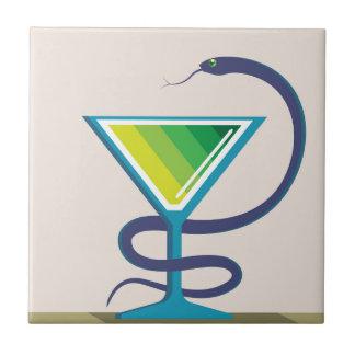 Color Glass with Snake Poison Medicine Tile