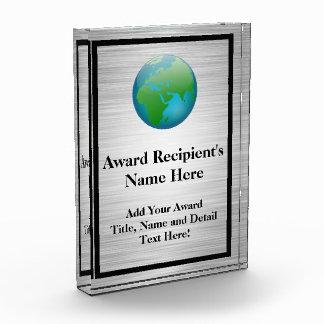Color Globe Personalized Acrylic Award