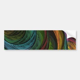 Color Glory Abstract Art Bumper Sticker Car Bumper Sticker
