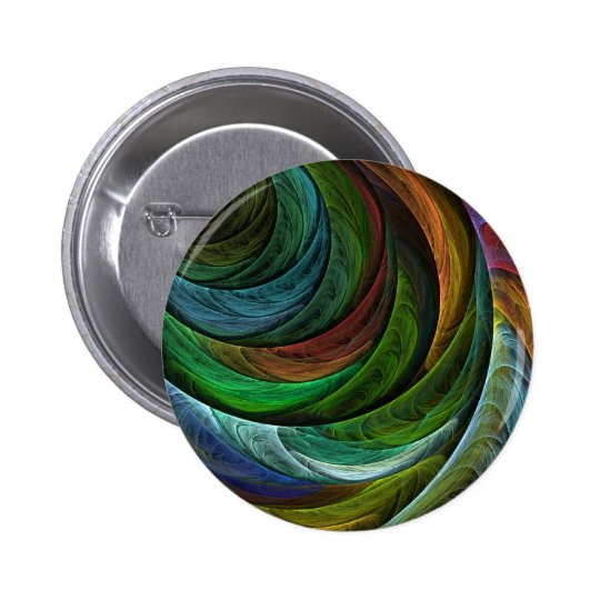 Color Glory Abstract Art Button (round)