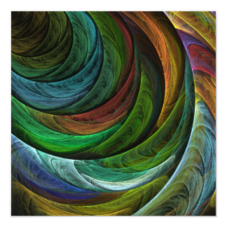 Color Glory Abstract Art Card