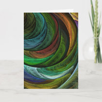 Color Glory Abstract Art Greeting Card