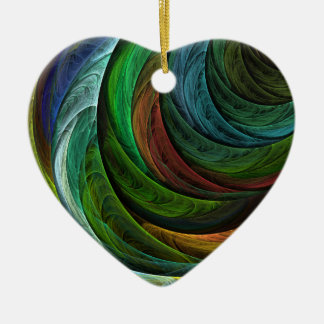 Color Glory Abstract Art Heart Ornament