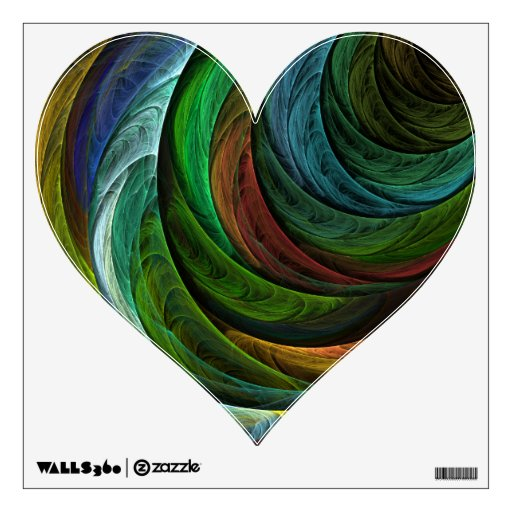 Color Glory Abstract Art Heart Wall Decal